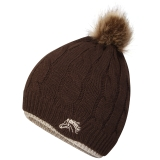Platinum Accessories Ladies Saltburn Cable Knit Hat - Chocolate