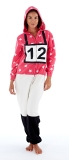 Platinum Ladies Cross Country Jockey Hooded Fleece Onesie - Pink