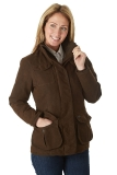 Sherwood Forest Ladies Hampton Waterproof Country Sports Field Jacket - Brown