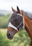 Shires Fine Mesh Earless Fly Mask - Black