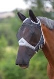 Shires Fine Mesh Fly Mask With Ears & Nose Extension - Black