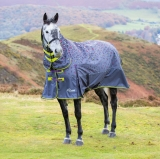 Shires Highlander Original 200 Combo Turnout Rug - Grey Leopard