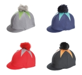Shires Pom Pom Riding Hat Cover With Big Star