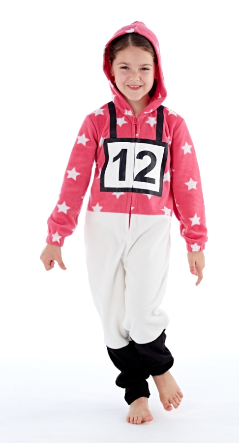 platinum-girls-cross-country-jockey-hooded-fleece-onesie-pink-9-10-years
