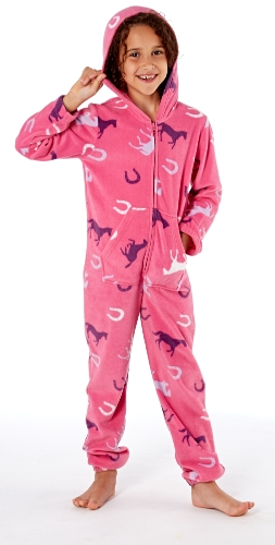 platinum-girls-happy-horse-print-hooded-fleece-onesie-cerise-11-12-years