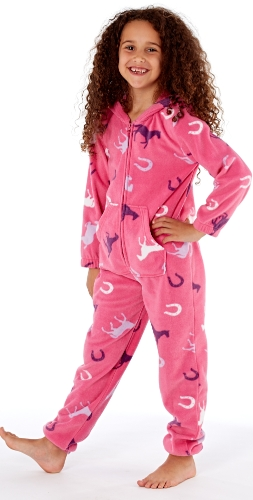 platinum-girls-happy-horse-print-hooded-fleece-onesie-cerise