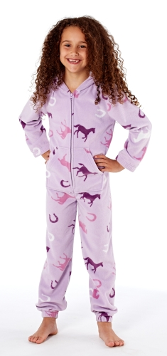 platinum-girls-happy-horse-print-hooded-fleece-onesie-lilac-11-12-years