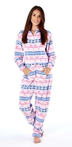 platinum-ladies-fairisle-design-hooded-fleece-onesie-pink