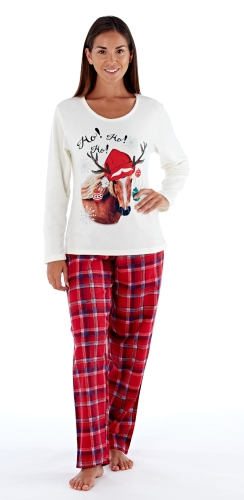 platinum-ladies-luxury-festive-horse-pyjamas-winter-white-red-check-68