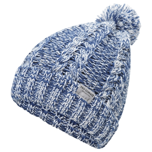 proclimate-ladies-reflective-cable-twist-knitted-beanie-hat-navy