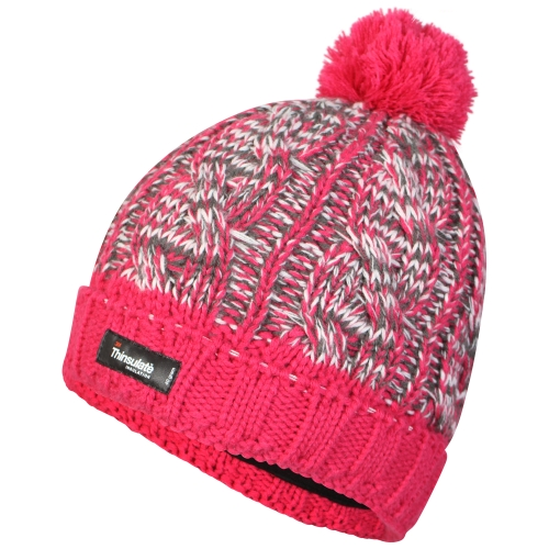 proclimate-ladies-waterproof-windproof-thinsulate-beanie-hat-pink