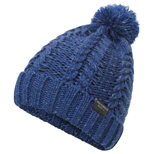 proclimate-unisex-reflective-cable-twist-knitted-beanie-hat-navy