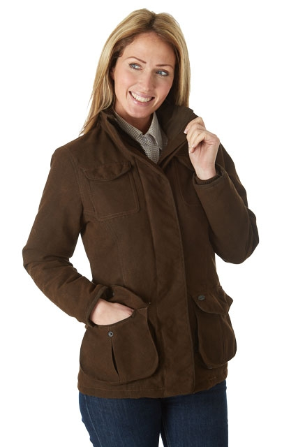 sherwood-forest-ladies-hampton-waterproof-country-sports-field-jacket-brown-size-16