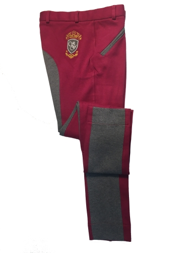 sherwood-forest-ladies-two-tone-yield-jodhpurs-dark-raspberrymelange-grey-size-10