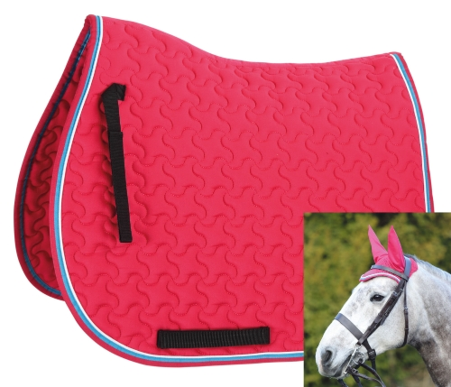 shires-deluxe-quilted-saddlecloth-matching-fly-veil-pinkbright-blue-cobfull