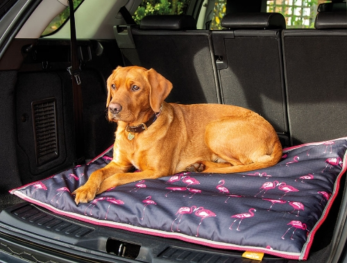 shires-digby-fox-waterproof-dog-bed-flamingo-print-80-x-100cm