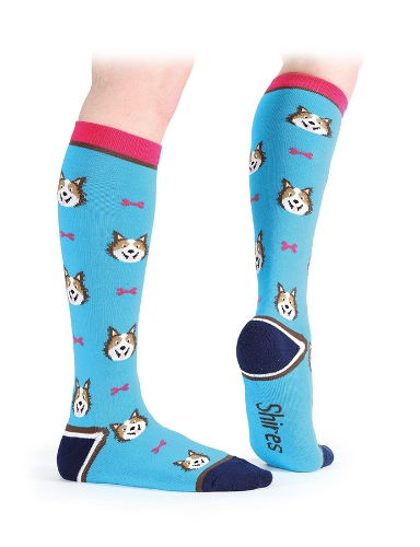 shires-everyday-knee-high-socks-blue-dog-adults