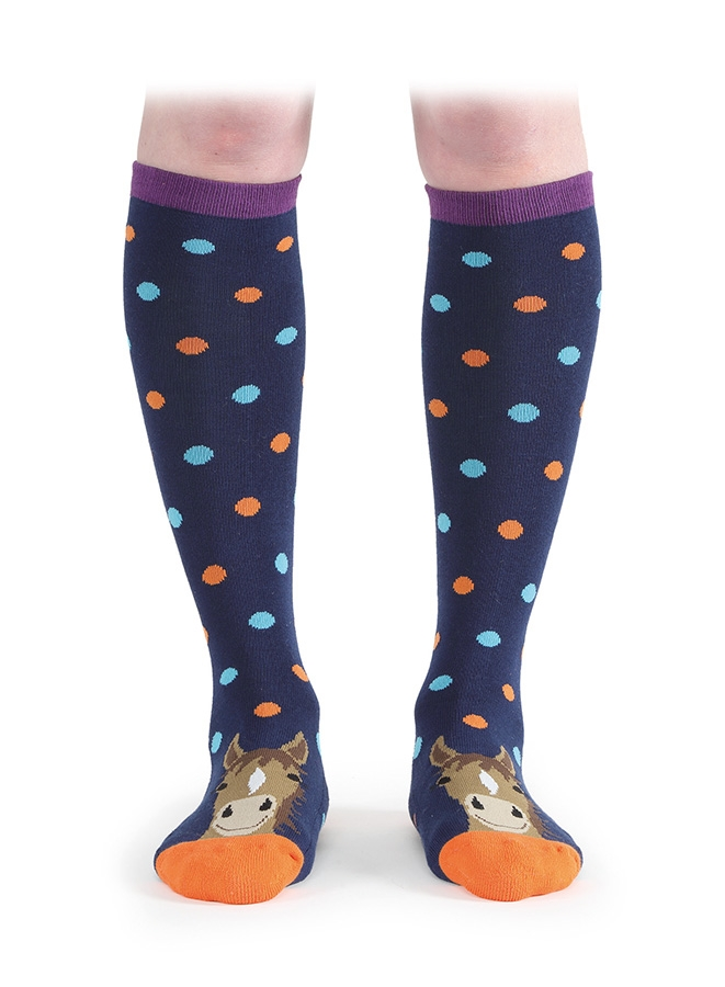 shires-everyday-knee-high-socks-navy-horse