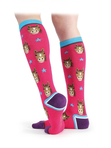 shires-everyday-knee-high-socks-pink-horse