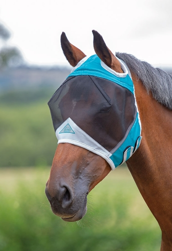 shires-fine-mesh-fly-mask-with-ear-holes-teal-small-pony