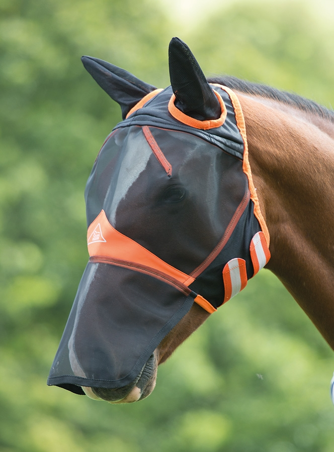 shires-fine-mesh-fly-mask-with-ears-nose-extension-blackorange-cob