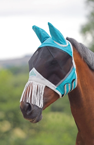 shires-fine-mesh-fly-mask-with-ears-nose-fringe-teal-small-pony