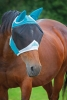 Shires Fine Mesh Fly Mask With Ears - Teal 2