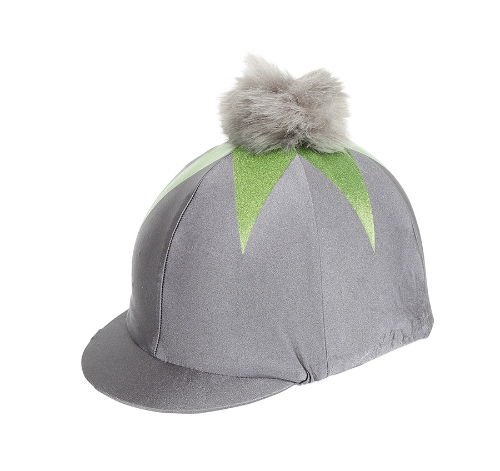 shires-pom-pom-riding-hat-cover-with-big-star-greylime