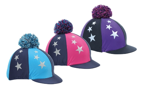 shires-pom-pom-riding-hat-cover-with-stars