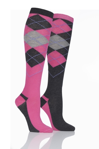 storm-bloc-equestrian-ladies-knee-high-socks-2-pack-argyle-cerisecharcoal