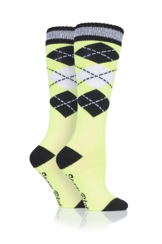 storm-bloc-equestrian-midweight-knee-high-socks-2-pack-argyle-neon-yellow