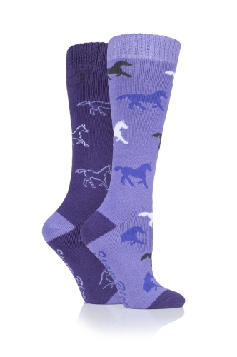 storm-bloc-equestrian-midweight-knee-high-socks-2-pack-horses-purplelilac-ladies-uk-48