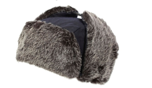 waxed-trapper-hat-with-faux-fur-trim-navy